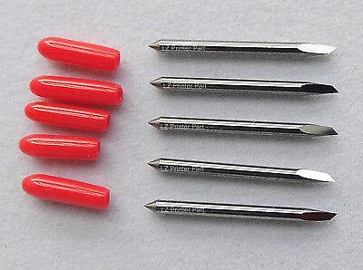 5x 45 Deg Small Head Blades For Mimaki Cg Series Gcc Vinyl Cutter Blade