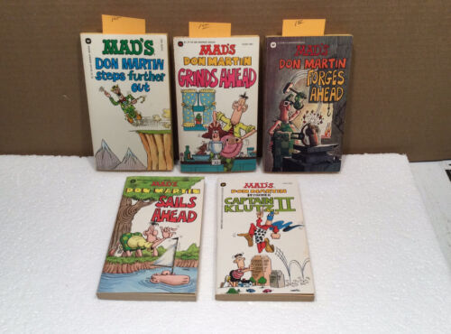 Lot Of 5 Vintage Mad Paperback Books Don Martin Three FIRST PRINTINGS No.1 - $32.00