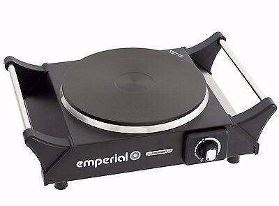 Emperial Hot Plate Single Electric Cooker Table Top Hob 1500W Portable Black