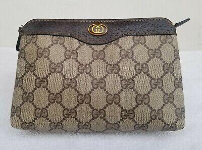 Gucci Vintage Accessory cosmetic Makeup Pouch Pouchette bag Monogram GG logo
