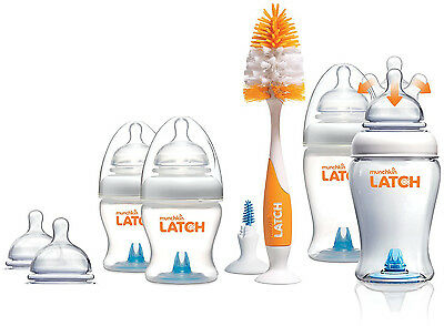 Munchkin LATCH NEWBORN STARTER SET Baby/Toddler Bottle Feeding Gift Box BN