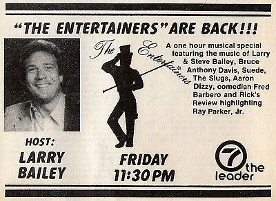 1982 Whio Tv Ad   Larry Bailey Hosts The Entertainers In Dayton Ohio Aaron Dizzy