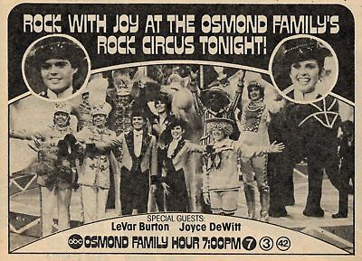 1979 TV AD~DONNY & MARIE OSMOND FAMILY'S ROCK CIRCUS Donny Marie Osmond Family