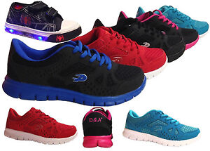 Kids-Outsole-Light-Weight-Sneakers-Boys-Girls-Athletic-Tennis-Shoes-Running