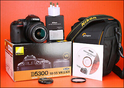 Nikon D5300 DSLR Camera +18-55mm Zoom Lens kit -Only 7,416 Shots - Built in WiFi