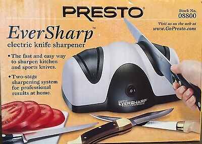 NEW Electric Knife Sharpener Kitchen tool 2 stage system 120