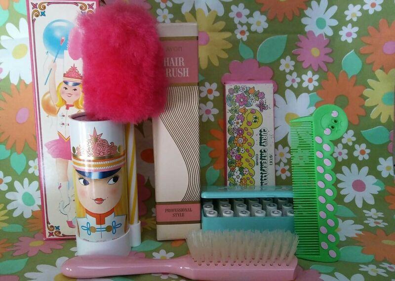 Vintage AVON Lot Miss Lollypop-Hair Brush-Comb- Avon Sampler