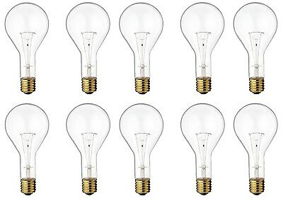 Satco S4961 - 300 watt PS35 Incandescent Bulb, Clear, Mogul Base - 10 Pack Clear Mogul Screw Base