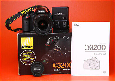 Nikon D3200 DSLR Camera + Nikon 18-55mm VR Zoom Lens kit -Only 6,256 Shots 1080p