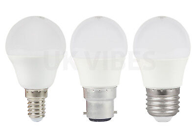 LED 25W 40W SES E14 BC ES Golf Ball Round Globe Lamp Light Bulbs Warm White A+