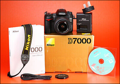 Nikon D7000 DSLR Camera & Nikon 18-55mm VR Zoom Lens Kit + 1080p HD + Boxed