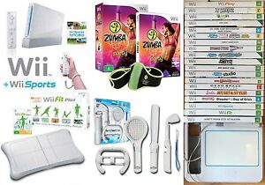 Wii Console, Games, Wii Fitness Board, Sport Pack, Zumba, UDraw Browns Plains Logan Area Preview