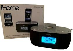 iHome iD38 Docking Station Speaker Alarm Clock FM Radio iPad iPhone 30 Pin Dock