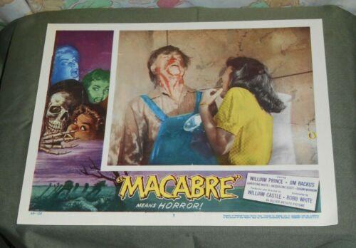 original MACABRE lobby card #7 William Castle