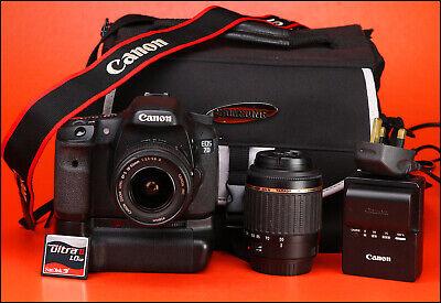 Canon EOS 7D DSLR Camera Dual Lens Kit - Canon 18-55mm & Tamron 55-200mm - Grip