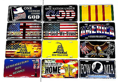 (Patriotic USA Metal Car Truck License Plate Auto Tag Sign)