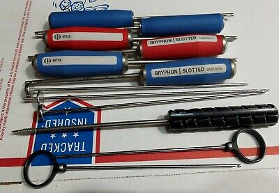 Depuy Mitek Gryphon Fishmouth Guides W Drill Bit Slotted Sawtooth Set