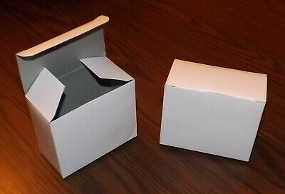 100 White Paper Thin Small Boxes Gift Wedding Packaging Favors Jewelry Packing