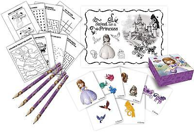 First Birthday Activities (SOFIA THE FIRST Birthday Party Activity Packs, Loot Bag Fillers for 4)