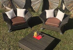 3 Piece Rattan Wicker Outdoor Garden Suite Chairs and Table Gatton Lockyer Valley Preview