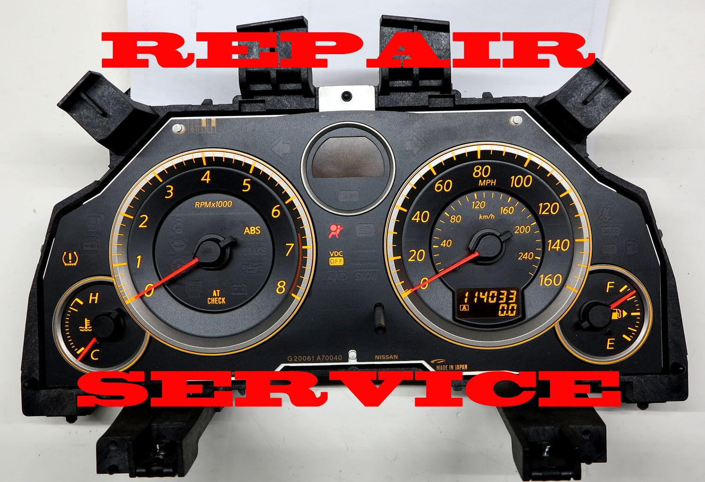 2008 2013 INFINITI G37 INSTRUMENT CLUSTER REPAIR SERVICE