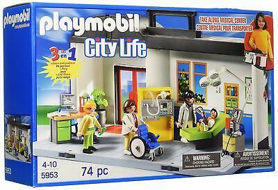 Playmobile Take Along Hospital Medical Building Construction Educational Set New