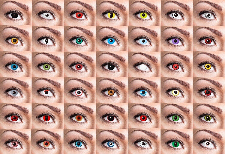 3 Monats Linsen - Eyecatcher Kontaktlinsen für Halloween, Fasching, Feste usw.