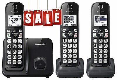 Panasonic Cordless Phone System Expandable Call Blocking 3 Handsets DECT6.0