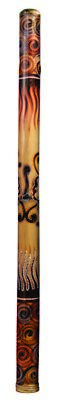"Didgeridoo Bamboo burned-painted 47"" long (Didgeridoo only)"