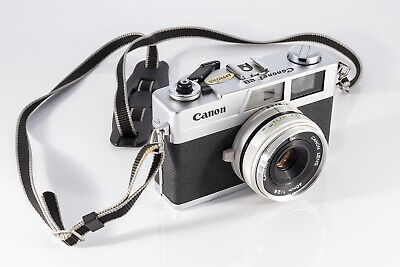 Canon Canonet 28 Rangefinder 35mm Film Camera f/2.8.  New Seals. Film Tested