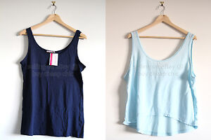 BULK SALE!!! 2 X BNWT SUPRE navy blue tank top singlet light blue XL 14 16