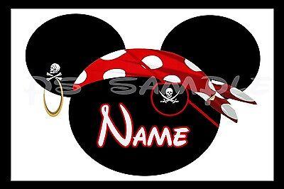 4x6 Disney Cruise Stateroom Door Magnet - PIRATE WITH EYE PATCH - PERSONALIZED - Pirate With Eye Patch