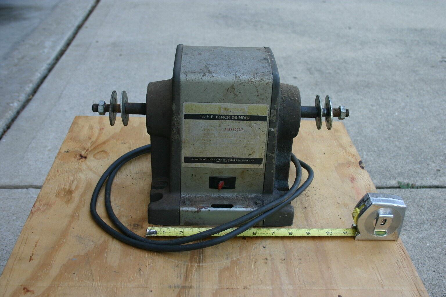 1/2 hp. Craftsman Block Bench Grinder / Buffer Motor