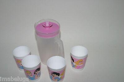 TUPPERWARE Disney Princess Mini Pitcher Tumbler Tea Party Play Set - Princess Tea Party Set