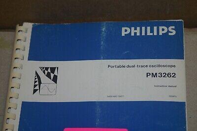Phillips Pm3262 Portabler Dual-trace Oscilloscope Instruction Manuall
