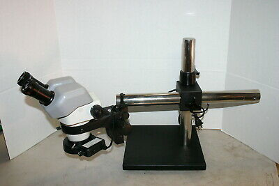 Nikon Smz-645 Stereozoom Microscope 8-50x On Boom Stand - Nice