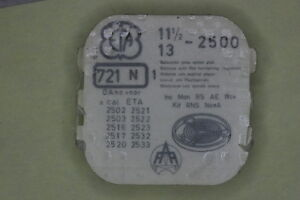 Balance complete ETA 2500 2502 2508 2516 INC KIF bilanciere completo 721 NOS - Italia - L'oggetto può essere restituito - Italia