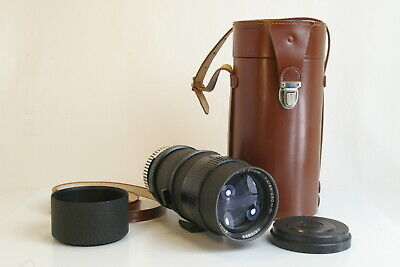 Enna Munchen Tele Zoom 85-250mm F4 Lens w/ Hood & Extremely Rare Leather Case