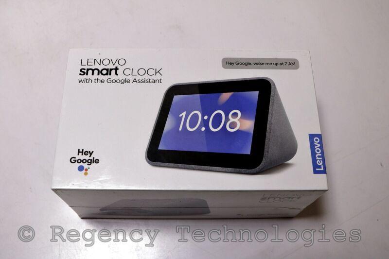LENOVO SMART CLOCK   ZA4R0002US   GRAY   FACTORY SEALED