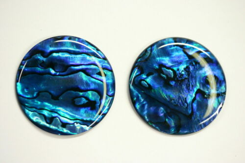 4pcs 10mm Natural Paua Shell Blue Calibrated Round Cabochon Gemstones Jewelry