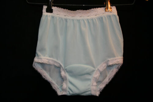 Girls NOS Sz 10 Mint Green 100% Nylon Crepe Vtg 60s Carole Panties Briefs Undies