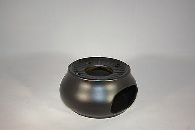 Stövchen schwarz matt Steinzeug Westerwald für die 1 und 2 Liter Teekanne