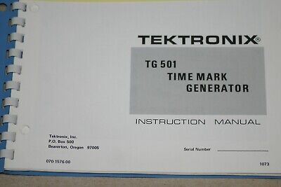 Tek Tg 501 Time Mark Generator Instruction Manual