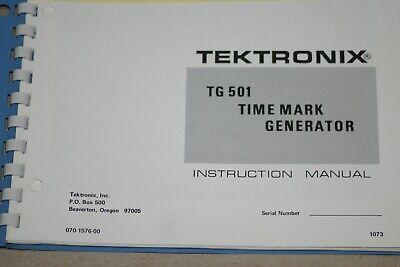 Tek Tg 501 Time Mark Generator Instruction Manual