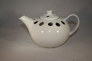 Ofen Verdampfer Luftbefeuchter Teekanne weiss glänzend