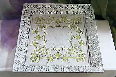 Großes Tablett Aus Holz (Großes Tablett Serviertablett aus Metall Holz Shabby Chic Ablage Handarbeit weiß)