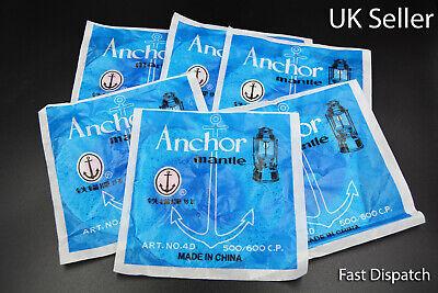 6 X ANCHOR Lamp mantles 500/600 CP Fits HIPOLITO AND PETROMAX lanterns