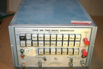 Tektronix Type 184 Time Mark Generator For Calibration Turns On Nice Condition