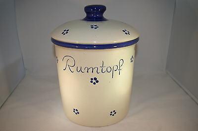 5 Liter Rumtopf Avena grade, handbemalt, Steinzeug
