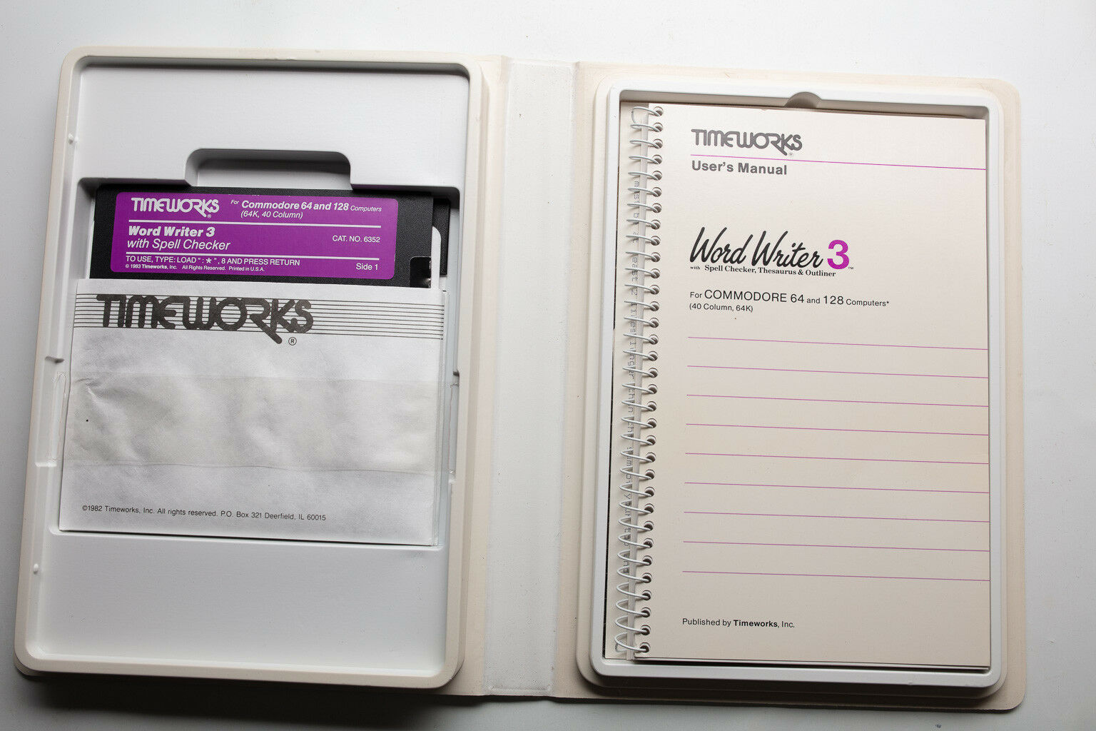 Vintage Commodore 64 and 128 Software Timeworks Word Writer 3 Boxed
